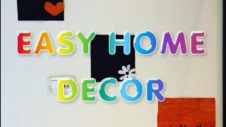 DIY | Home decoration using craft papers, tree leaf, cartons | Diwali 2018 | by Anuja Paul