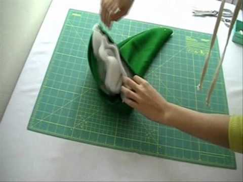 Holiday 2010: How To Make a Santa Hat, Elf Hat and Stockings - YouTube