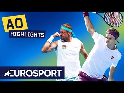 Roger Federer Vs Tennys Sandgren Highlights | Australian Open 2020 Quarter-Final | Eurosport