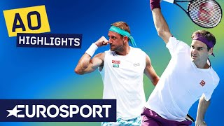Roger Federer vs Tennys Sandgren Highlights | Australian Open 2020 Quarter-Final | Eurosport