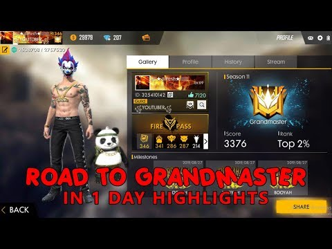SEASON 11 ROAD TO GRANDMASTER IN 1 DAY HIGHLIGHT !! Free Fire Killing Montage !!