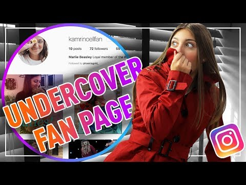 I WENT UNDERCOVER as a FAN ACCOUNT on INSTAGRAM!