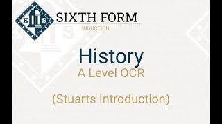 A Level History   Stuarts Induction