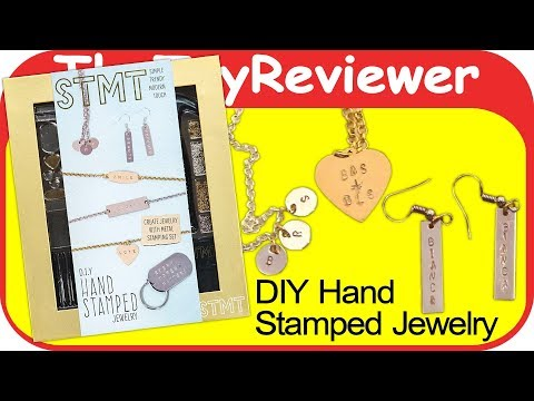 STMT DIY Hand Stamped Metal Jewelry Kit How to Stamp Unboxing Toy Review by TheToyReviewer
