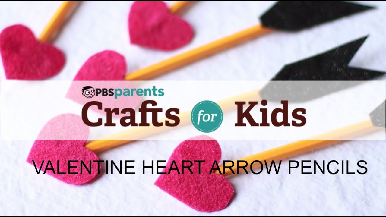 valentines day pencils crafts for kids pbs parents youtube