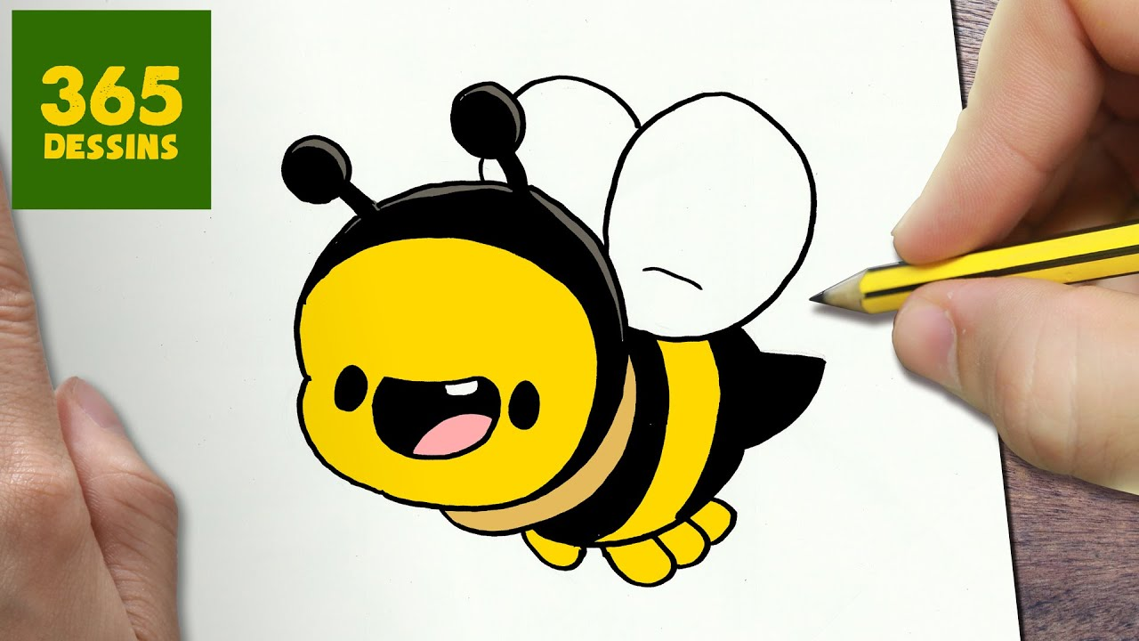 Comment Dessiner Abeille Kawaii étape Par étape Dessins Kawaii Facile