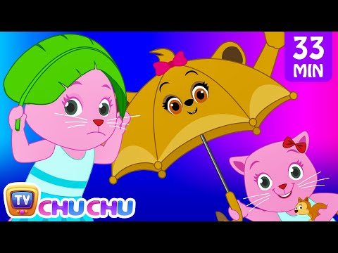 Thumbnail: Rain Rain Go Away Nursery Rhyme With Lyrics - Cartoon Animation Songs for Kids | Cutians | ChuChu TV