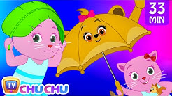 Rain Rain Go Away Nursery Rhyme With Lyrics - Cartoon Animation Songs for Kids   Cutians   ChuChu TV