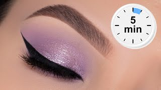 5 MINUTE EASY Lilac Eye Makeup Tutorial | Stay At Home Eye Look
