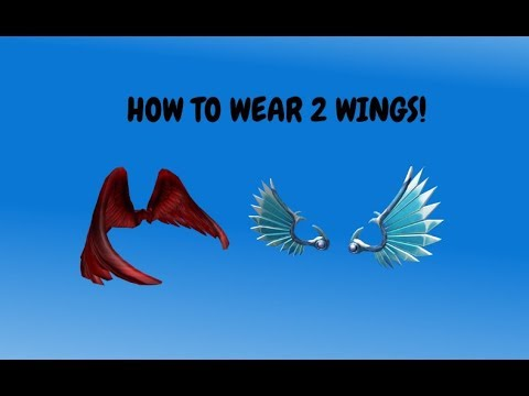 How To Put 2 Pairs Of Wings On Your Avatar In Roblox Youtube - roblox free wings in avatar