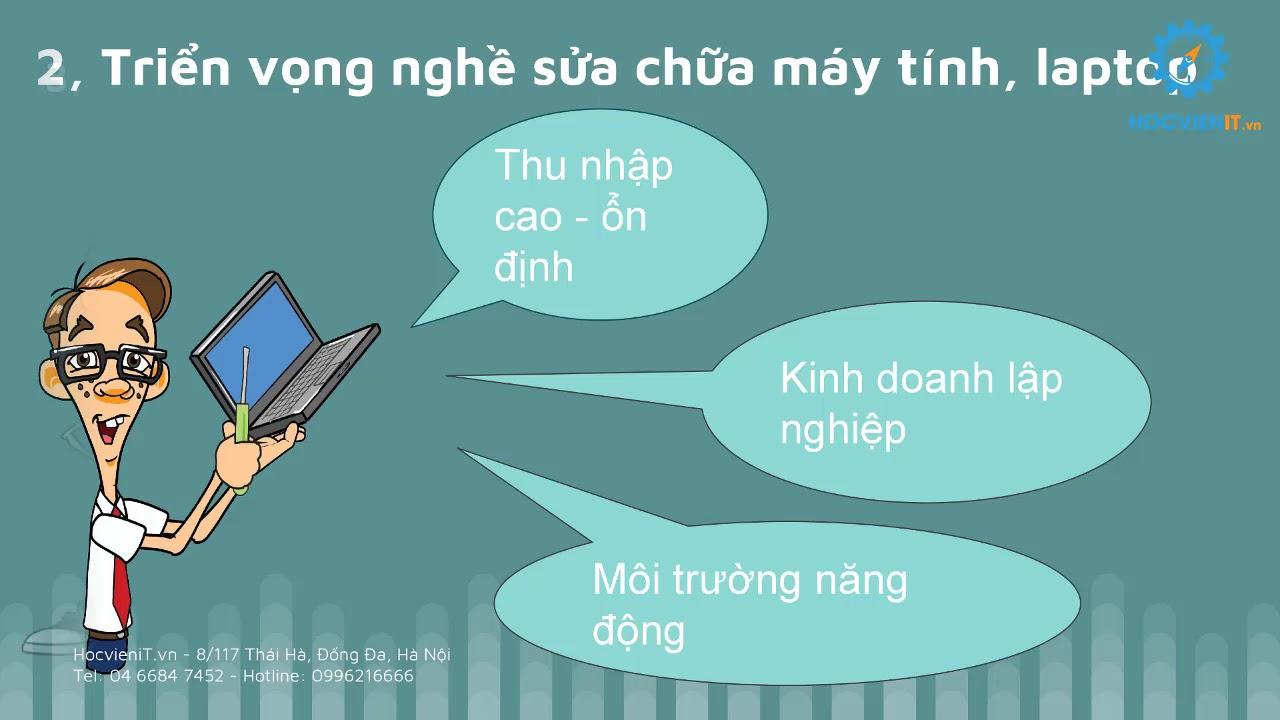Khóa học sửa chữa laptop, máy tính online miễn phí – Bài 1 – HocvieniT.vn