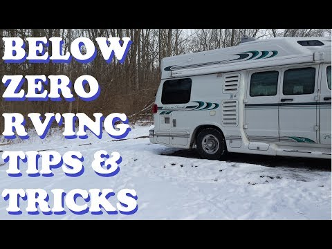 Winter RV Tips ~ 5 Below Zero Temps & Ways to Keep RV Warm