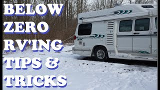 Winter RV Tips ~ 5 Below Zero Temps & Ways to Keep RV Warm