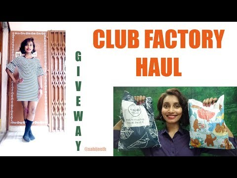 Club Factory Mini Haul | Coupons | Honest Review | Clothing | Giveaway | SahiJeeth