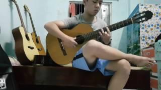 Recuerdos de la alhambra - guitar cổ điển - by ae xóm trọ- ngày cuối tuần :) :) :)