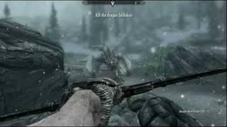 Elder Scrolls V: Skyrim - Max Graphics Dragon Fight [HD Gameplay]