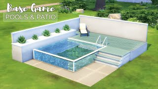 Pools & Patios • Backyard Ideas | Base Game Tutorial | No CC or Mods | The Sims 4