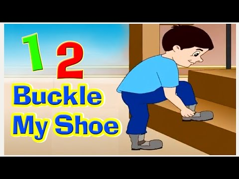 One Two Buckle My Shoe Nursery Rhyme with Lyrics I Counting Rhymes | Kids Songs, English Rhymes