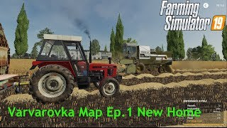 With Zetor to Russia// Varvarovka // Fs 19 // Timelapse// Ep.1 New Home