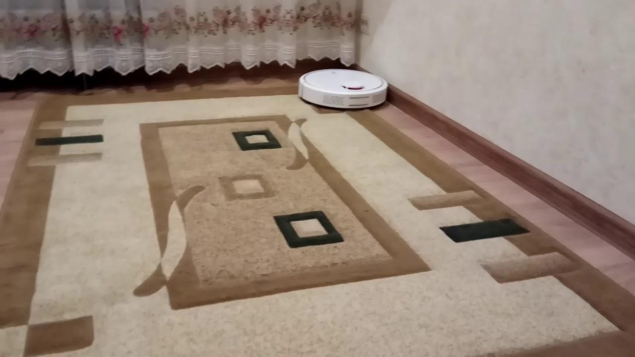 Xiaomi робот пылесос и высокий ковер