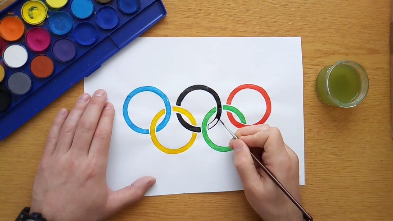how to draw the olympic rings tokyo 2020 youtube
