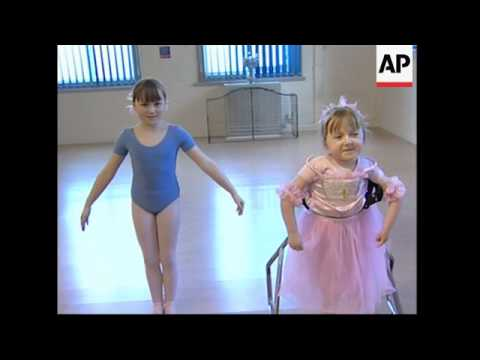 Special equipment helps a disabled girl achieve ballet dreams. Client refeed.