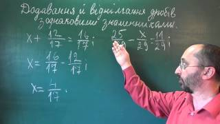 Додавання й віднімання звичайних дробів з однаковими знаменниками - 5 клас