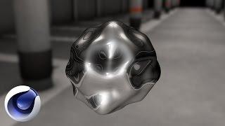 Cinema 4D – Создаем 3D каплю хрома в Cinema 4D. [Уроки 3D]