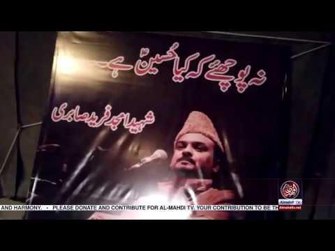 "Amjad Sabri's Picture in ""Najaf to Karbala walk"" with baqar zaidi"