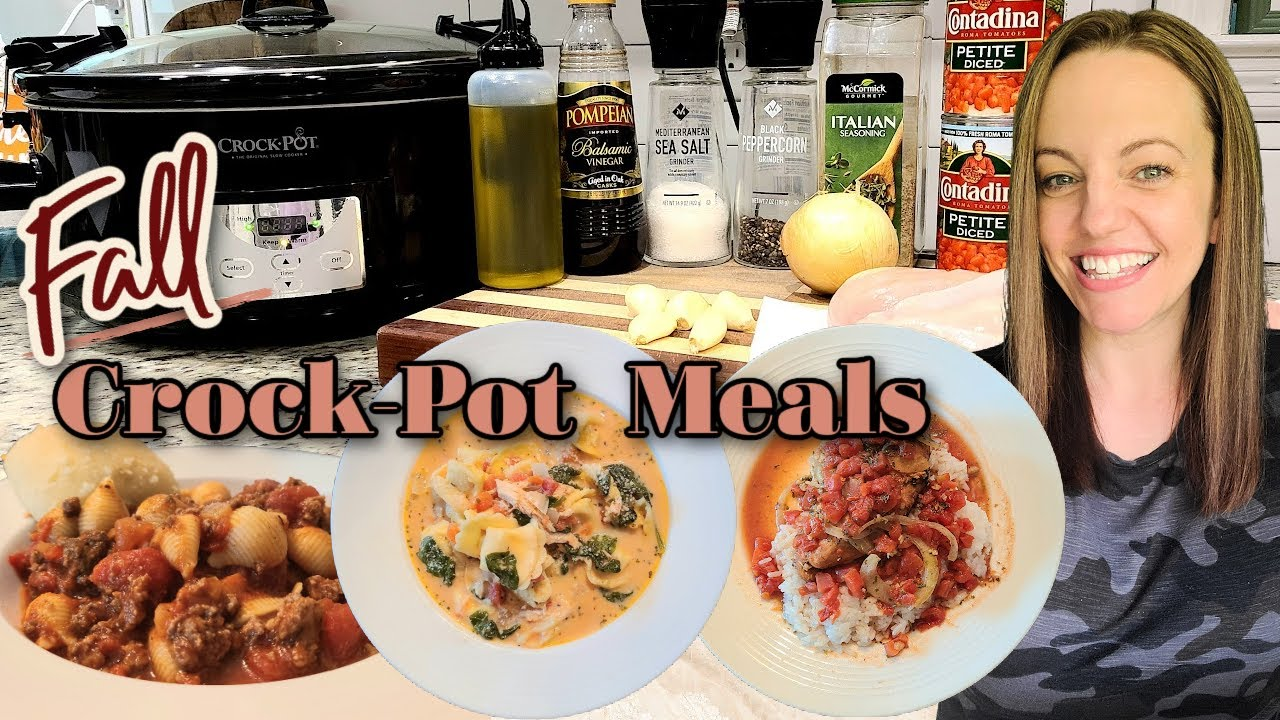 FALL CROCKPOT DINNERS   EASY CROCKPOT MEALS   WINNER DINNERS   WEEKNIGHT SLOW COOKER MEALS   NO. 104