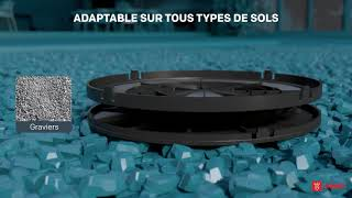 Vidéo: Plot autonivelant terrasse dalle ou carrelage 85/115 mm