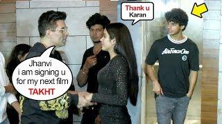Jhanvi Kapoor's Bf Ishaan's JEALOUS Reaction As Karan Johar Offers Her His Next Film TAKHT