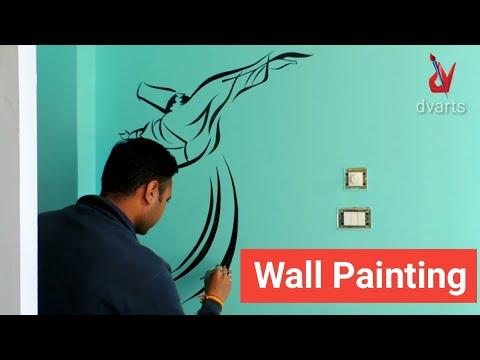 #wallpainting #walldesign Wall painting | latest wall painting for bedroom | wall design | by dvarts
