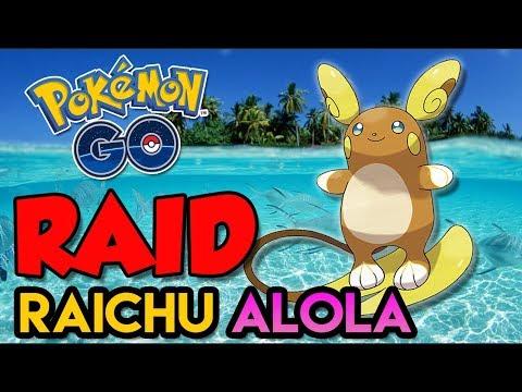 SOLANDO RAICHU DE ALOLA -  Pokémon Go   Derrotando Raid Boss (Parte 23) thumbnail