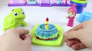 Masha Niloya Ve Tosbik Kinetik  Kumdan Pasta Yapıyor Eğlenceli Videolar
