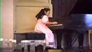 Melissa plays Bach Partita No. 5 Praeambulum, age 9