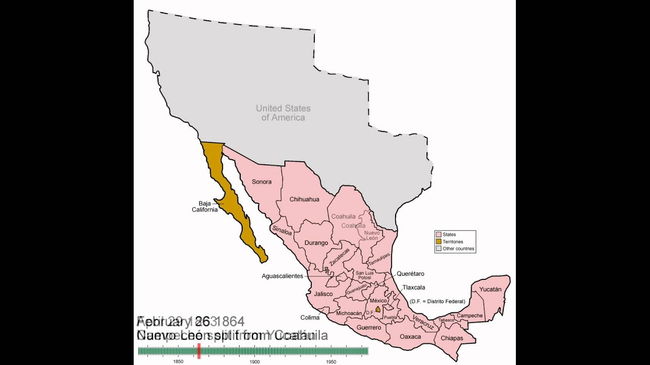 Mexico States Evolution YouTube