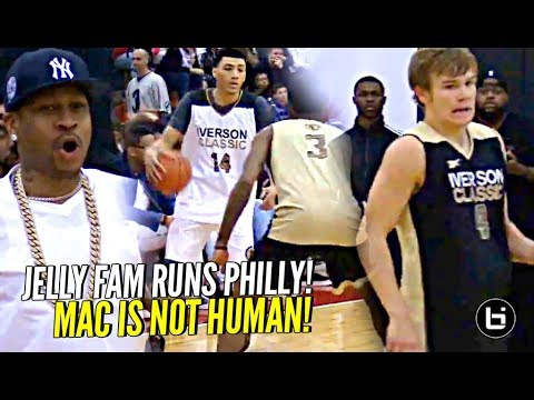 JellyFam Jahvon Quinerly RUNS Philly!! Mac McClung WILDS OUT In Front of Allen Iverson!