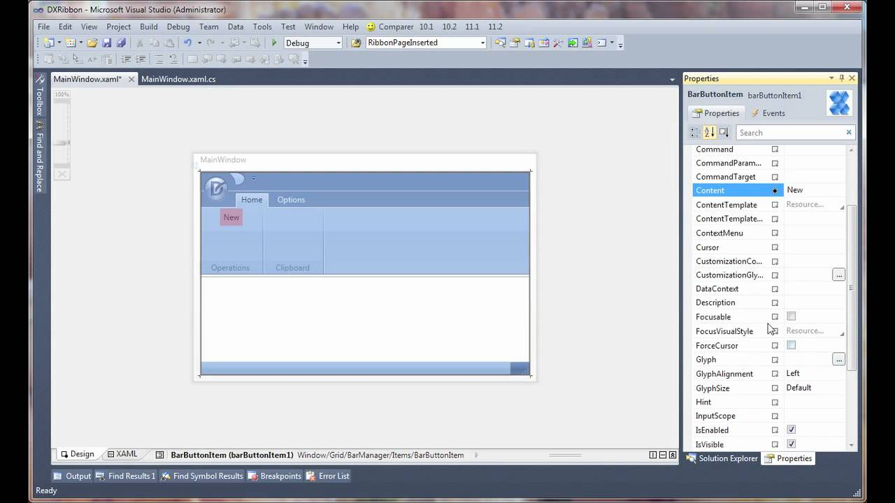 WPF Ribbon Control - Powerful Design-time Features