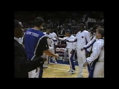New York Knicks Player Introduction 1996 - 97 vs Rockets @ MSG