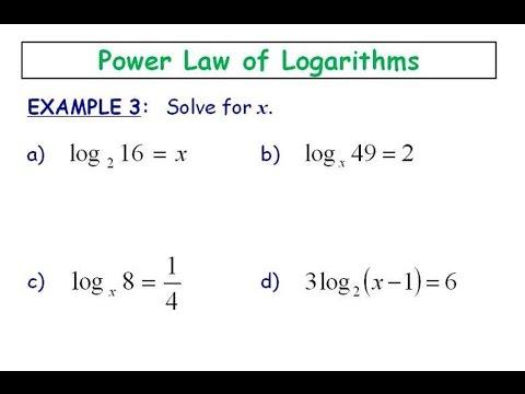 6.4 - Power Law (Solving)
