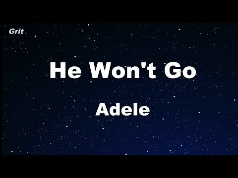 He Won't Go - Adele Karaoke 【No Guide Melody】 Instrumental