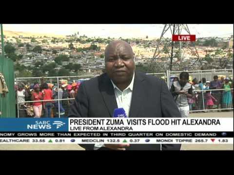UPDATE: President Zuma visits floods hit Alexanda