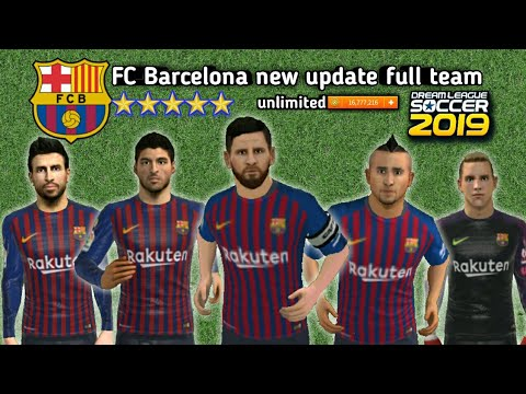 FC Barcelona 2019 new Update ALL players 100- Dream League Soccer 2019