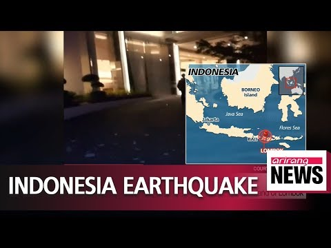 At least 82 dead after powerful earthquake strikes Indonesian island of Lombok