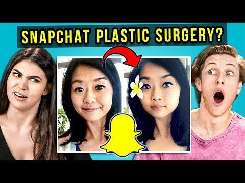 Teens React To Snapchat Plastic Surgery (Body Dysmorphia)