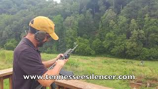 Shooting AK47 Full Auto with Dead Air Wolverine Silencer