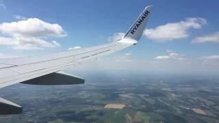 [HD] Ryanair 737 - Windy Landing to Budapest Ferenc Liszt International Airport |1080p|