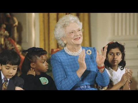 Former presidents, first ladies honor Barbara Bush