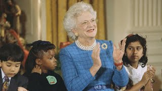 Former presidents, first ladies honor Barbara Bush